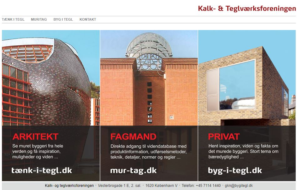 Hjemmeside - Bygg i Tegel